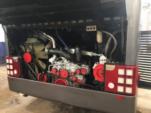 8201VC Orion Travel Vanhool Engine Bay