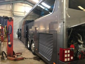 8201VC Orion Travel Vanhool Showbus Prep