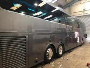 8201VC Orion Travel Vanhool Showbus 2018 prep